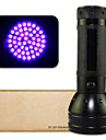 LED Lommelygter / UV lommelykt (Vandtaet / Nedslags Resistent / Glidesikkert Greb / Ultrafiolett lys / Falske Detector) - LED 1 Modus