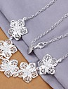 Fashion Flowers 925 Silver Statement Necklaces Wedding/Party/Daily/Casual 1pc