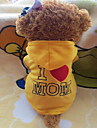 Dog Hoodies - XXS / XS / S / M / L / XL - Summer - Yellow / Rose Polar Fleece