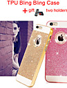 TPU Bling Glitter Cover Case with Back Hole for iPhone 4/4S(Assorted Colors)