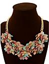 Women\'s Statement Necklaces Crystal Gemstone Alloy Statement Jewelry Rainbow Jewelry