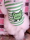 Chat / Chien T-shirt Vert Vetements pour Chien Ete Rayure / Dessin-Anime Mariage / Cosplay