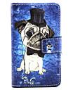Для Кейс для Nokia Кошелек / Бумажник для карт / со стендом Кейс для Чехол Кейс для С собакой Твердый Искусственная кожа NokiaNokia Lumia