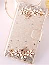 Для Кейс для  Samsung Galaxy Бумажник для карт / Стразы / со стендом / Флип Кейс для Чехол Кейс для 3D в мультяшном стилеИскусственная