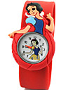 Children's Cute Cartoon Silicone Snow White Pattern   Lovely Digital Quartz Slap Watch Cool Watches Unique Watches
