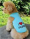 Коты / Собаки Футболка Оранжевый / Синий / Розовый / серый Одежда для собак Лето Буквы и цифры / Сердца Свадьба / Косплей
