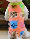 Gatos / Perros Camiseta Naranja Ropa para Perro Verano Caricaturas Boda / Cosplay