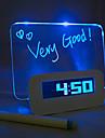Night Light LED Alarm Clock Message Board Interchanging Colors DC 5V  3*AAA USB Interface