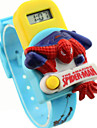 Children's Round Dial Spider man pattern Rubber Band Electron Watch Cool Watches Unique Watches