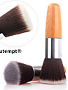 1PCS Exquisite Natural Bamboo Handle Foundation Brush for Powder/Makeup Base Primer/Foundation