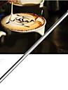 cafe inoxidavel agulha de croche vara esculpida flores pintadas agulha cafe extravagante esculpido (1 pcs)