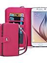 삼성 갤럭시 케이스 S8 플러스 지갑 케이스 전신 경우 단색 PU 가죽 삼성 S6 에지 (S6)의 S8에 대한
