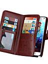 Pour Samsung Galaxy Note Portefeuille Porte Carte Clapet Coque Coque Integrale Coque Couleur Pleine Cuir PU pour Samsung Note 5 Note 4