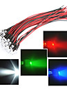 Leitungslaenge in 20cm LED 12V 5mm Licht rot / weiss / blau / gruen / rgb 20pcs Bundle