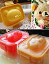 teddybeer vormige sushi rijst bal mal gekookt ei schimmel diy bento instrument (set van 2)