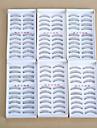 Cilios Cilios Tiras Completas de Cilios Olhos Pestana Cruzado Grossa Comprimento Natural Natural Encaracolado Grossa Manual Microfibra