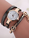 Fashion Casual Long Leather Strap watches Women Popular Jewelry Ethnic Style Surround Wrist Quartz Watch Clock 4 Colors Cool Watches Unique Watches