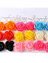 European And American Fashion Colorful Rose Flower-9 Pairs Of Earrings  Stud Earrings Wedding/Party/Daily/Casual 18pcs