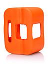 kingma® gopro backdoor couverture d\'orange cas du cadre de silicone floaty pour GoPro heros camera 4 de session