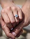 Кольца Мода Свадьба Бижутерия Цирконий / Серебрянное покрытие Женский Массивные кольца 1шт,Стандартный размер Серебряный