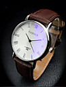 Hombre Reloj Cuarzo Reloj de Moda PU Banda Reloj de Pulsera