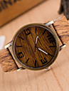Unisex  Watches Wood Grain Wrist Watch Synthetic Leather Strap Man Watch Women Watch Anniversary Gifts
