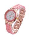 orologio fasion breve saliente quadrante rotondo del quarzo della fascia di ceramica del polso analogico delle donne (colori assortiti)