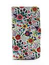 Для Кейс для  Samsung Galaxy Кошелек / Бумажник для карт / со стендом / Флип Кейс для Чехол Кейс для Цветы Искусственная кожа SamsungS5 /