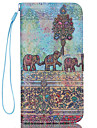 For iPhone 6 Case / iPhone 6 Plus Case Card Holder / Wallet / with Stand / Flip / Pattern Case Full Body Case Elephant Hard PU Leather