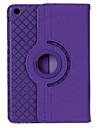 360 graus de rotacao padrao de grade pu couro + TPU caso w / stand para ipad 4/3/2