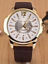 L.WEST Men's Marble Mirror Calendar Quartz Watch Cool Watch Unique Watch