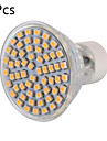 5 pcs GU10 6 W 60 SMD 3528 600 LM Warm White / Cool White MR16 Decorative Spot Lights AC 220-240 V