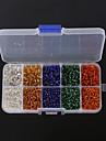 실버 내부와 beadia 1BOX / 165g 유리 씨앗 구슬 모듬 크기 3mm 4mm 라운드 혼합 색상을