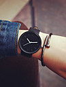 New Women Black Geek Strap Watch Fashion Casual Waterproof Cool Minimalist Unisex Quartz Rubber Strap Wristwatches Cool Watches Unique Watches