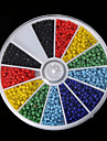 Beadia 1Box/46g Glass Seed Beads 2mm Round Mixed Solid Colors Small Glass Beads (aprx.1000pcs)