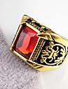 Классические кольца Нержавеющая сталь Позолота Имитация Алмазный В форме цветка резной D E F G H БижутерияСвадьба Для вечеринок