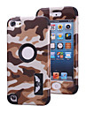 Camouflage patterns High Quality Snap-on PC + Silicone Hybrid Combo Armor Case Cover for iPod touch 5(Assorted Color)