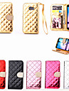 For Samsung Galaxy Case Wallet / Card Holder / Rhinestone / with Stand / Flip Case Full Body Case Geometric Pattern PU Leather SamsungS6