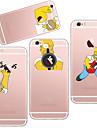 Pour Coque iPhone 6 Coques iPhone 6 Plus Ultrafine Transparente Motif Coque Coque Arriere Coque Jeux Avec Logo Apple Flexible PUT pour