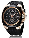 Men's Watch Japanese Quartz Military Gold Case Rubber Band  Cool Watch Unique Watch