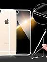 Pour Coque iPhone 6 / Coques iPhone 6 Plus Ultrafine / Transparente Coque Coque Arriere Coque Couleur Pleine Flexible TPUiPhone 6s Plus/6