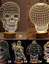 El estado de animo del usb atmosfera creativa modelo de dibujos animados craneo 3d llevo la lampara de mesa decoracion calida noche de luz
