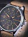 Hombre Reloj Cuarzo Reloj Deportivo Piel Banda Reloj de Pulsera