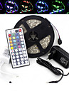 Waterproof 5M 300X3528 SMD RGB LED Strip Light and 44Key Remote Controller and 3A US UK EU AU Power Supply (AC110-240V)