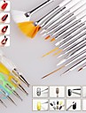 1set Nail Brush Nail Art Design Painting Dotting Detailing Pen Brushes Bundle Tool Kit Set Nail Styling Tools(20pcs/set)