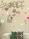 Cartoon Tree Birdcage Wall Stickers