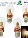 5W E26/E27 Lampada Redonda LED B 25 SMD 2835 460 lm Branco Quente Decorativa AC 85-265 V 4 pcs