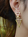 Drop Earrings Simple Style European Alloy Silver Golden Jewelry For Party Daily Casual 2pcs