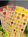 DIY Decorative Stickers Set(6 Sheets Assorted Pattern)