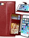 Назначение iPhone X iPhone 8 Кейс для iPhone 5 Чехлы панели Кошелек Бумажник для карт со стендом Флип Чехол Кейс для Сплошной цвет Твердый